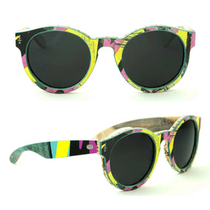 Sk8shades Thruster Sunglasses clothing & accessories Sk8shades black-yellow-pink