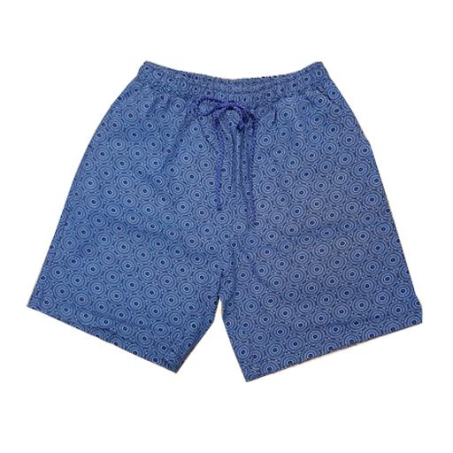 Tsotsi Mens Blue Triangles Shorts clothing & accessories Tsotsi Streetwear