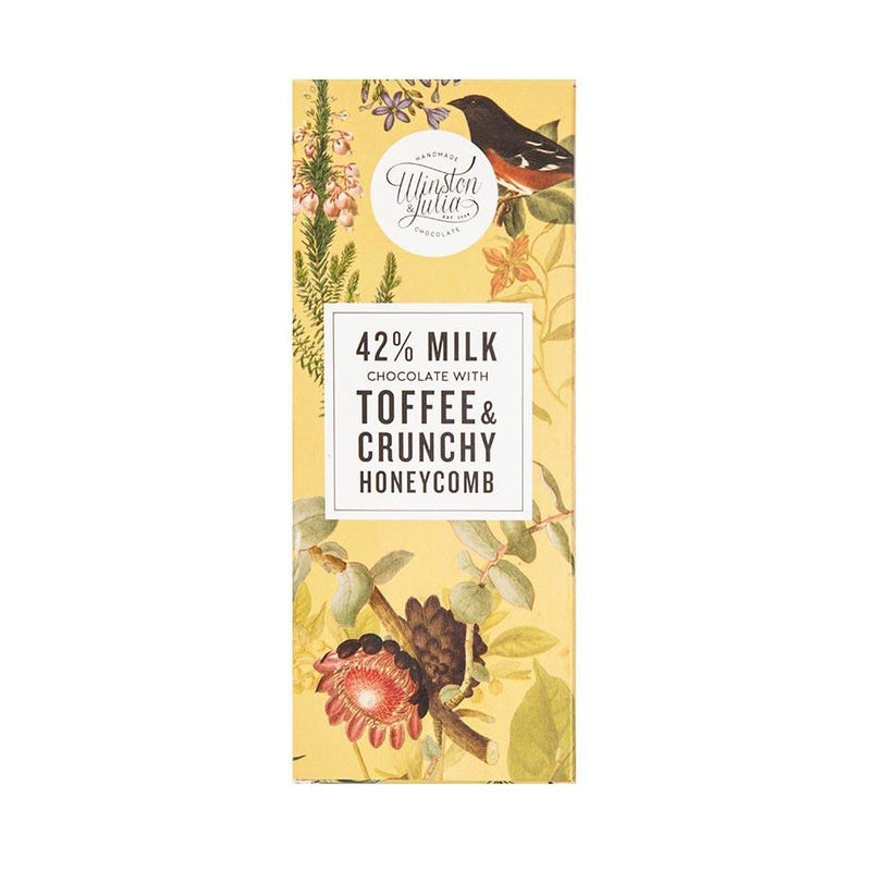 Winston & Julia Toffee & Honeycomb Chocolate Slab 75g food Winston & Julia