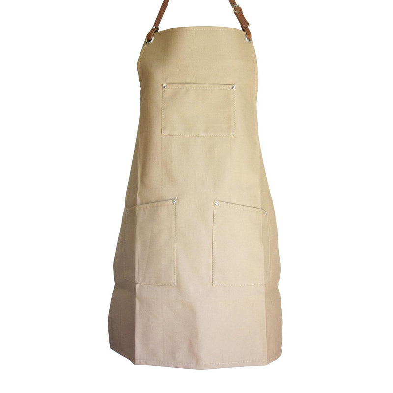 Woodheads Workmen's Canvas & Leather Aprons clothing & accessories Woodheads beige