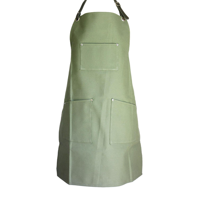 Woodheads Workmen's Canvas & Leather Aprons clothing & accessories Woodheads green