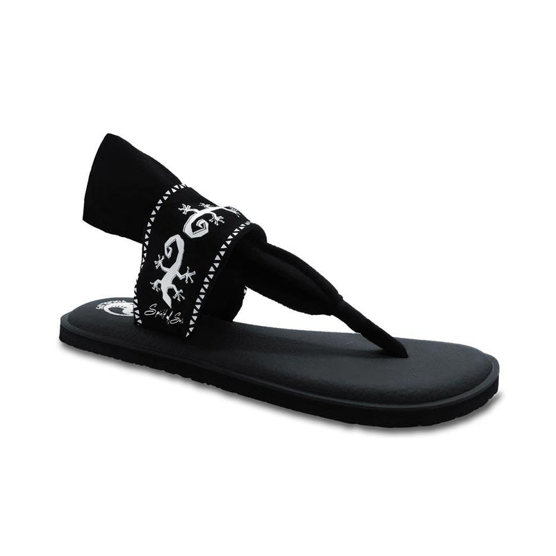 Yogislops Ebony & Ivory Gecko Women's Designer Sandals clothing & accessories YOGISLOPS