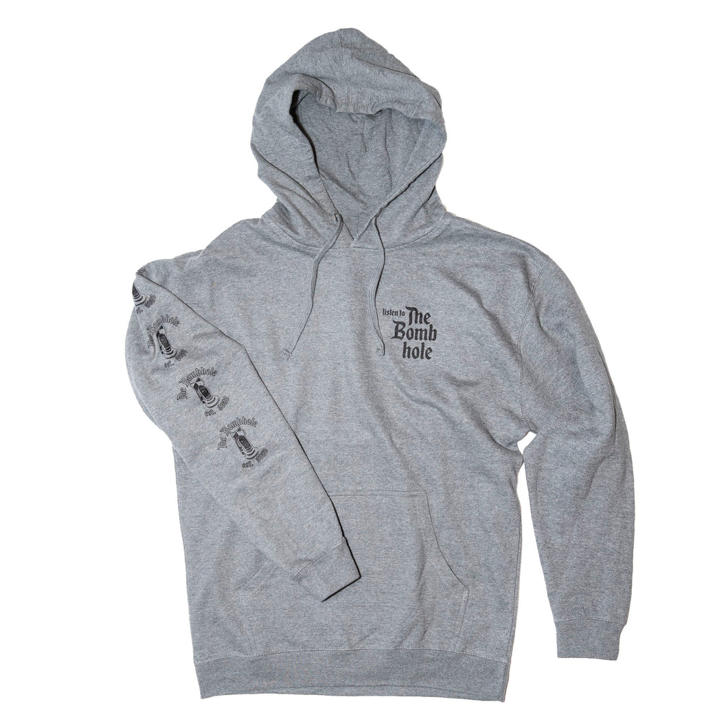 FOR SALE LIMITED SIZES New BombHole Grey Hoodie