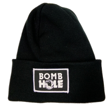 Load image into Gallery viewer, Black Bomb Hole Fleece Lined Beanie