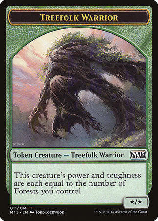 Treefolk Warrior Token [Magic 2015 Tokens] | Red Claw Gaming