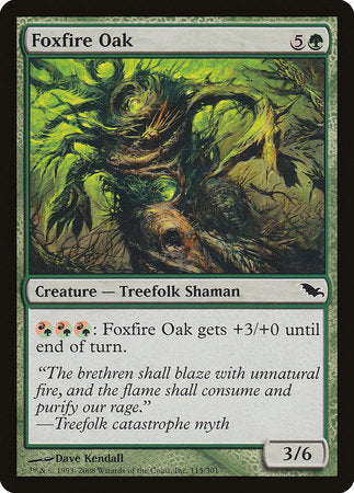 Foxfire Oak [Shadowmoor] | Red Claw Gaming