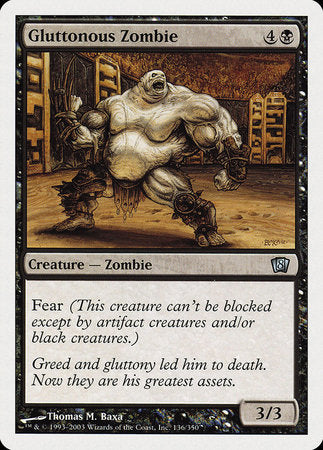 Gluttonous Zombie [Eighth Edition] | Red Claw Gaming