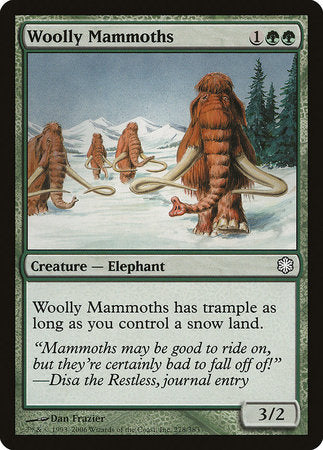 Woolly Mammoths [Coldsnap Theme Decks] | Red Claw Gaming