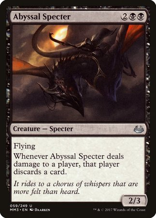 Abyssal Specter [Modern Masters 2017] | Red Claw Gaming