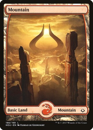 Mountain (188) - Full Art [Hour of Devastation] | Red Claw Gaming