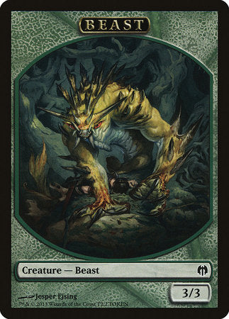 Beast Token [Duel Decks: Heroes vs. Monsters Tokens] | Red Claw Gaming