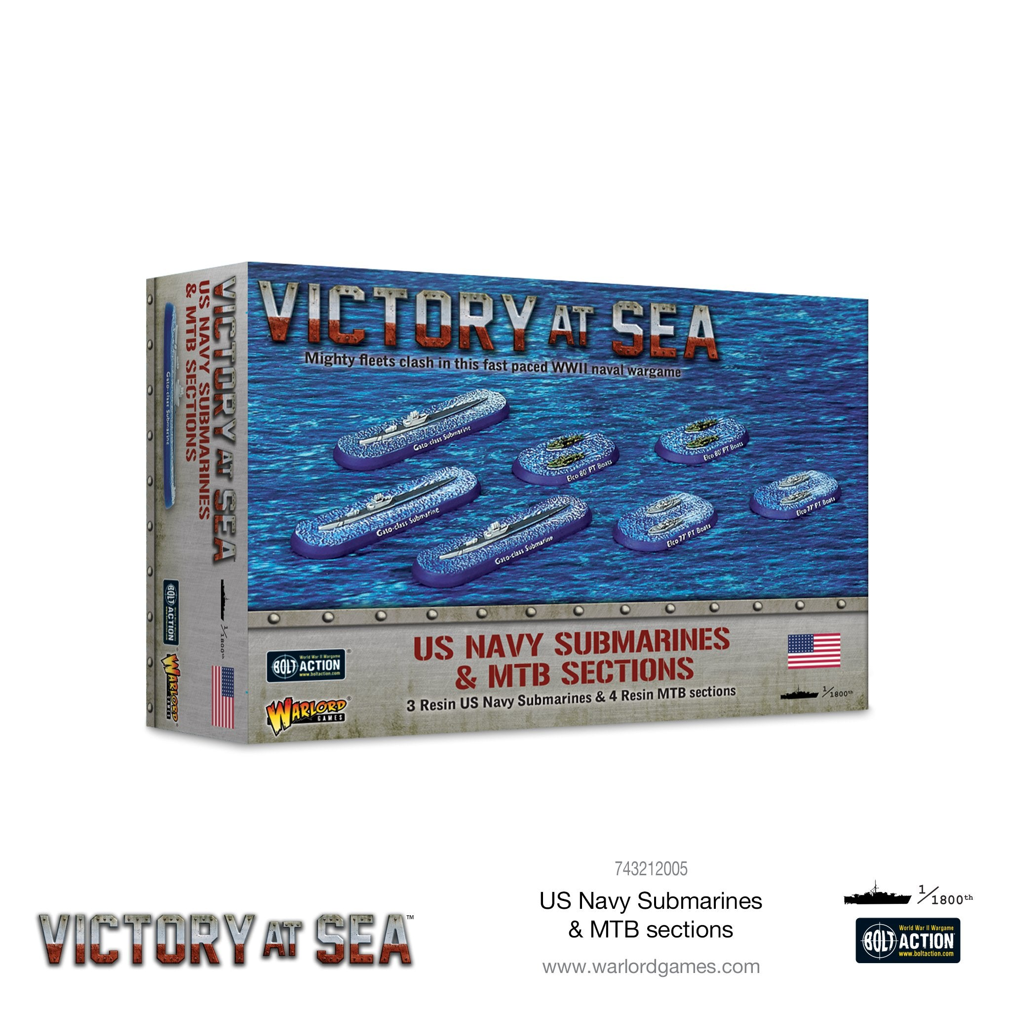 Victory at Sea - US Navy Submarines & MTB sections | Red Claw Gaming