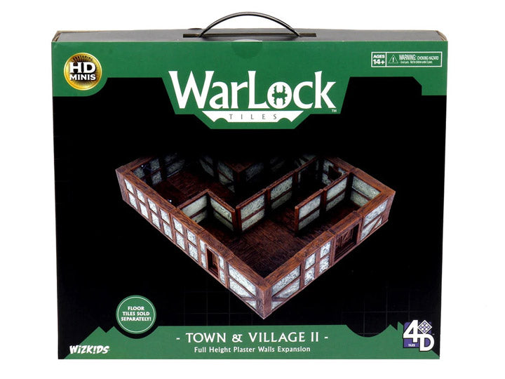 WARLOCK TOWN/VILLAGE TILES II: PLASTER WALLS EXPANSION | Red Claw Gaming