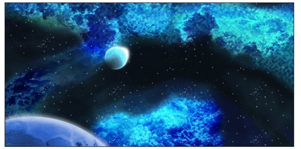 GaleForce Nine: Game Mat: Frozen Star System (3'x6') | Red Claw Gaming