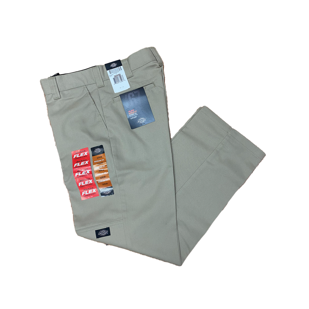 DICKIES KHAKI DOUBLE KNEE STRAIGHT FIT 67'