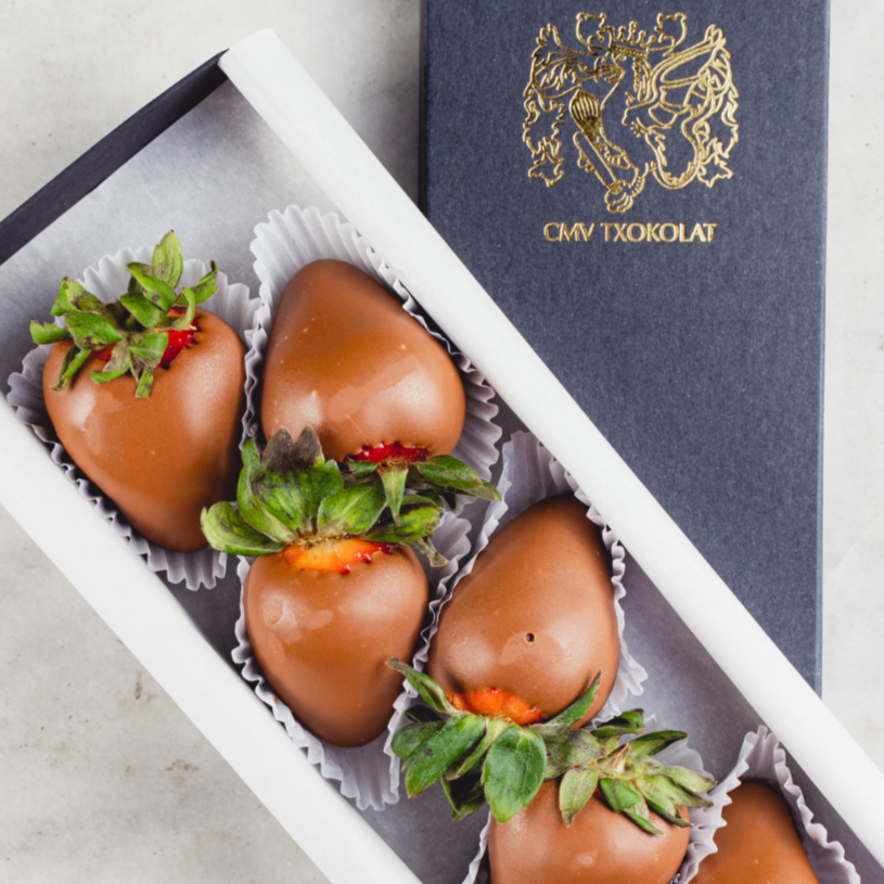 CMV Txokolat Chocolate Covered Sofia Strawberries