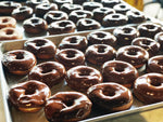 Load image into Gallery viewer, Tray of Chocolate Donuts with Chocolate Frosting dessert or pastry