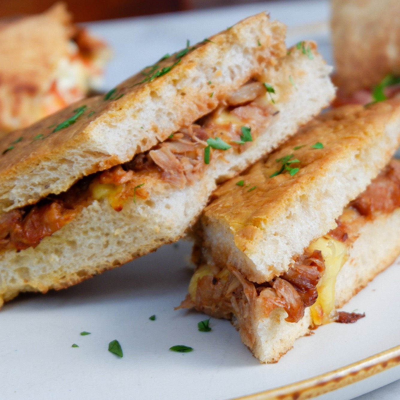 Braised Lamb Grilled Cheese