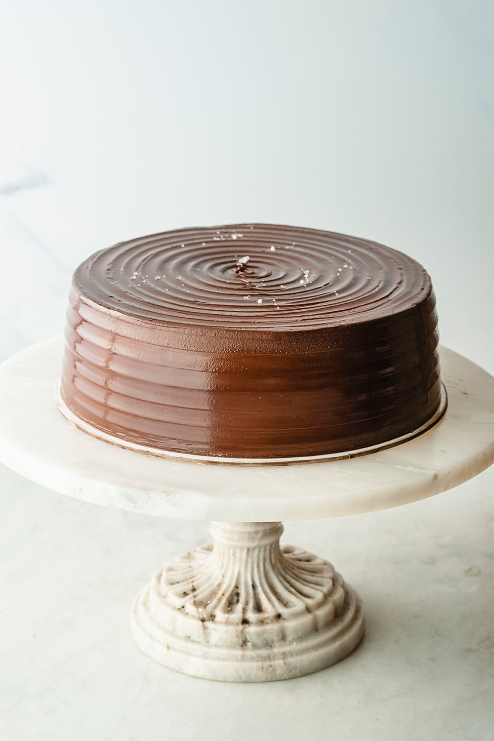 Whole Salted Chocolate Cake with Caramel dessert or pastry