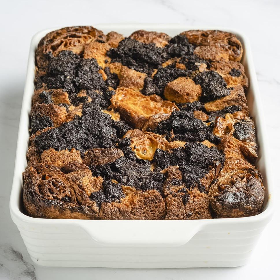 Whole Bread Pudding served with Crème Anglaise bread or dessert