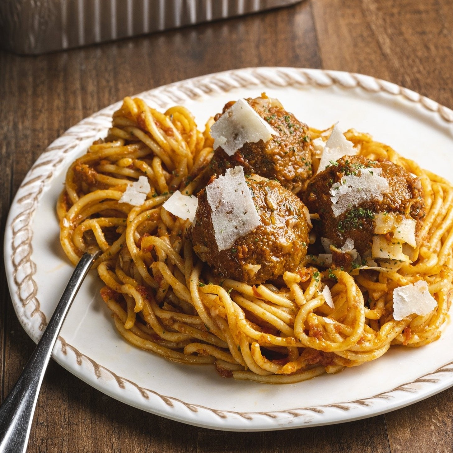 Bucatini and Meatballs