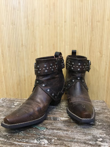 Ariat Leather Studded Ankle Boots (7.5)