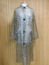 Load image into Gallery viewer, Vinyl Polka Dot Raincoat (M)