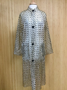 Vinyl Polka Dot Raincoat (M)
