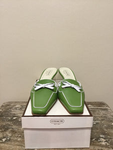 Coach Kelly Green Kitten Heel Shoes (7.5)