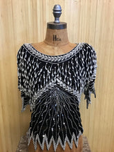 Load image into Gallery viewer, Sequined and Beaded Silk Top (S/M)