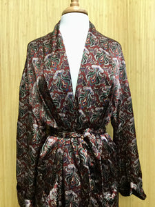 Silk Accents Paisley Robe (OS)