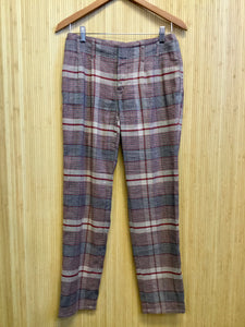 Lands End Canvas Plaid Pants (S)