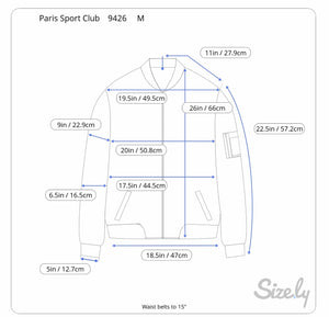 Paris Sport Club Suede Bomber (M)