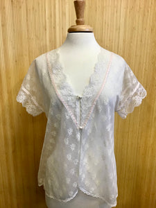 Lorraine Sheer Lace Top (L)