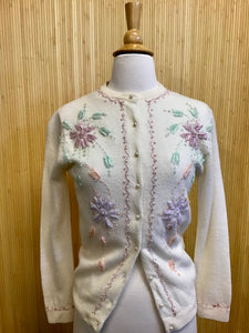 Beaded 1950's Sweater (S)