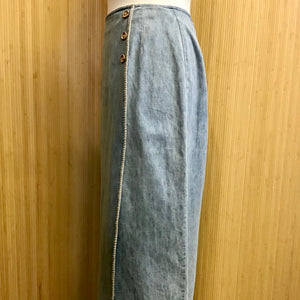 Nipon Studio Denim Midi Skirt (L)