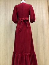 Load image into Gallery viewer, Montgomery Ward Velour Maxi Dress (XS)