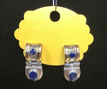 Load image into Gallery viewer, Sterling Silver and Lapis Earrings