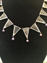 Load image into Gallery viewer, Art Deco Glass Cut Triangles Necklace