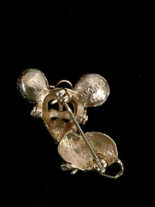Mouse With Glasses Brooch