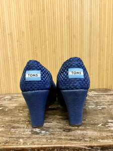 Toms Woven Peep Toe Wedges (8)