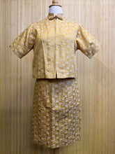 Load image into Gallery viewer, 1950's Seibu Silk Skirt Set (XS)