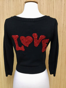 Betsey Johnson LOVE Cardigan (S)