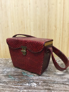 Vassar Snakeskin Box Purse