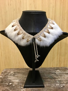 Beaded Fur Collar