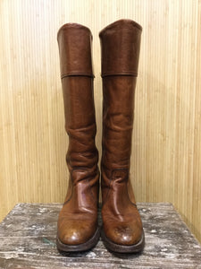 Frye Leather Round Toe Knee High Boots (8.5)