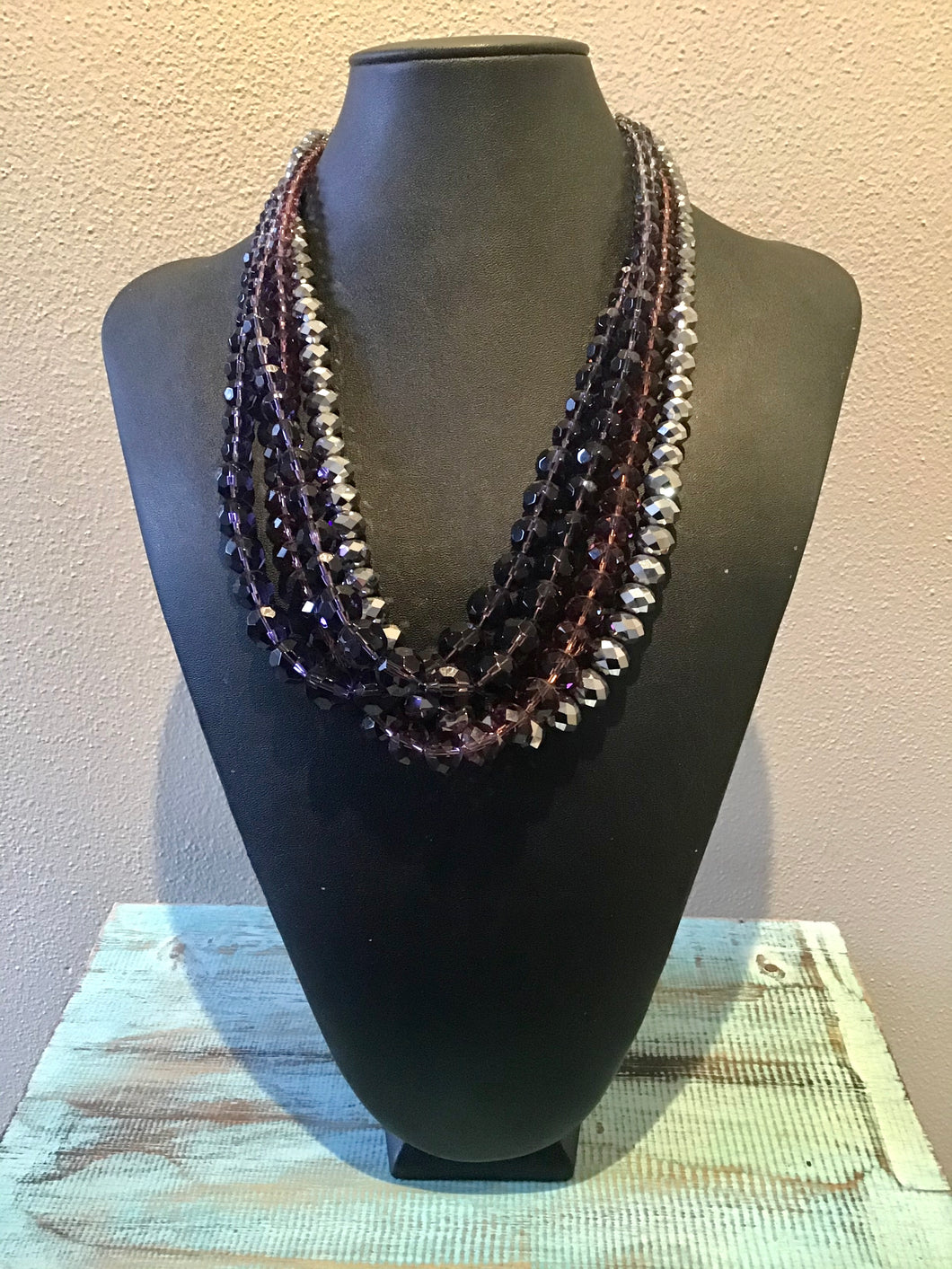 Four Strand Glass Beaded Necklace