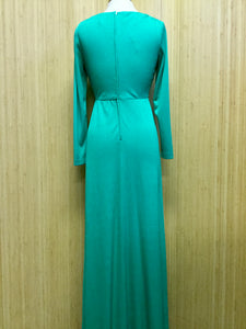 Vintage Long Sleeve Maxi Dress (M)