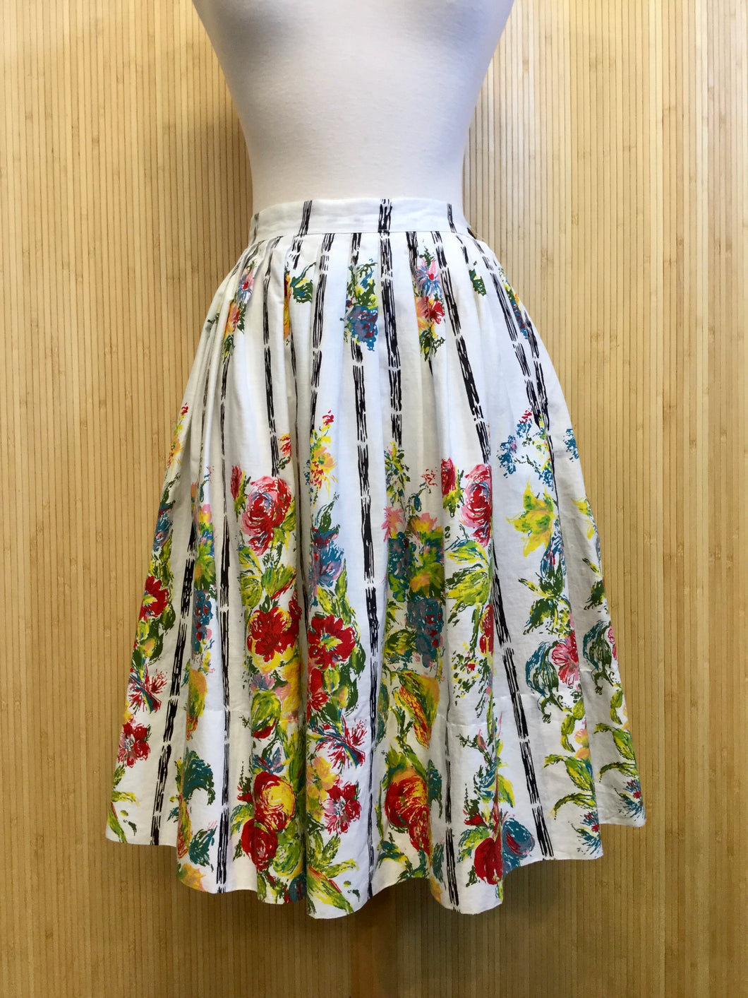 Pleated Floral Skirt (XS)