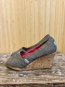 Toms Cork Wedge Shoes (8)